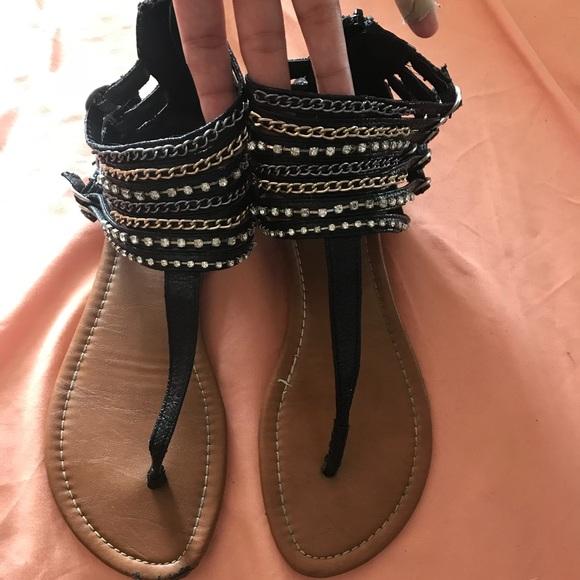f8e0aa5080a Charlotte Russe chain/rhinestone gladiator sandals